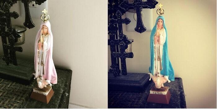 12. Дева Мария, которая предсказывает погоду, реагируя на влажность