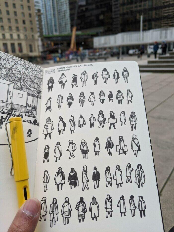 """""""Я люблю зарисовывать людей, котрых вижу на улицах"""""""