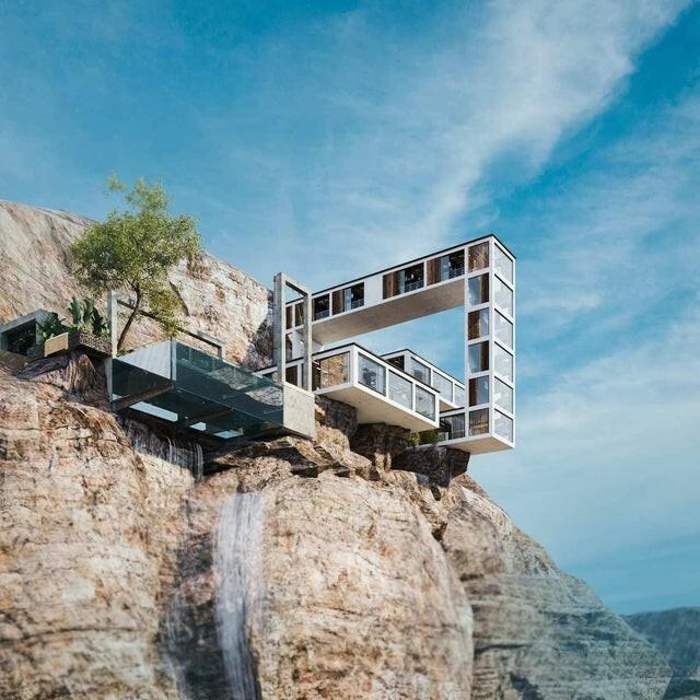 Архитектор Милад Эштияги представляет Горный дом, который бросает вызов гравитации