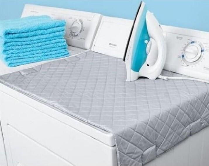 Защитный жаропрочный коврик, который превращает стиральную машину в гладильную доску