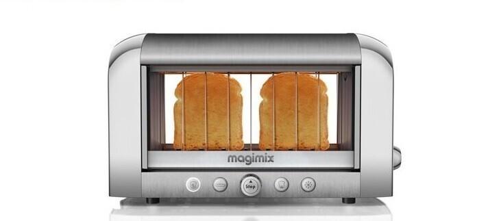 Прозрачный тостер, который позволяет видеть, когда тосты прожарились донужной кондиции