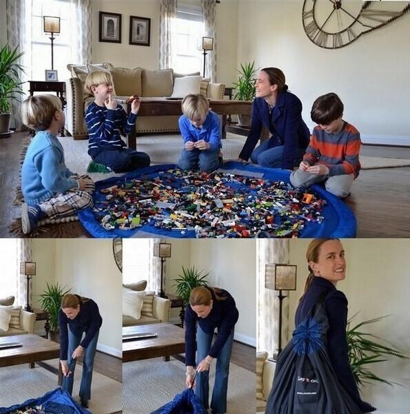 Игровой коврик - мешок: все игрушки - в одном месте!