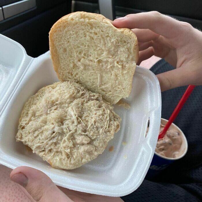 21. Оказывается, куриный сэндвич может быть и таким...
