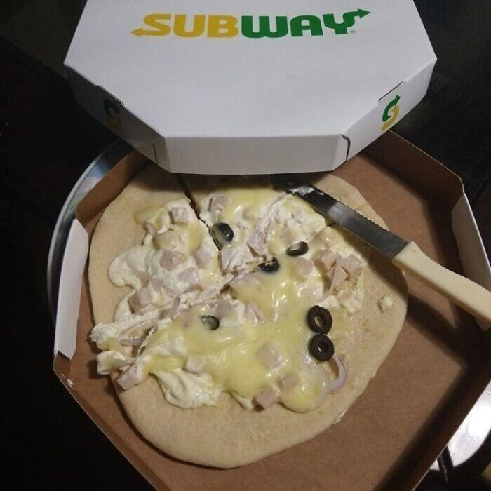 9. Пицца Subway в Бразилии