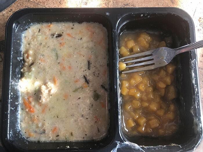 Еще один госпитальный обед в США. Приятного аппетита!