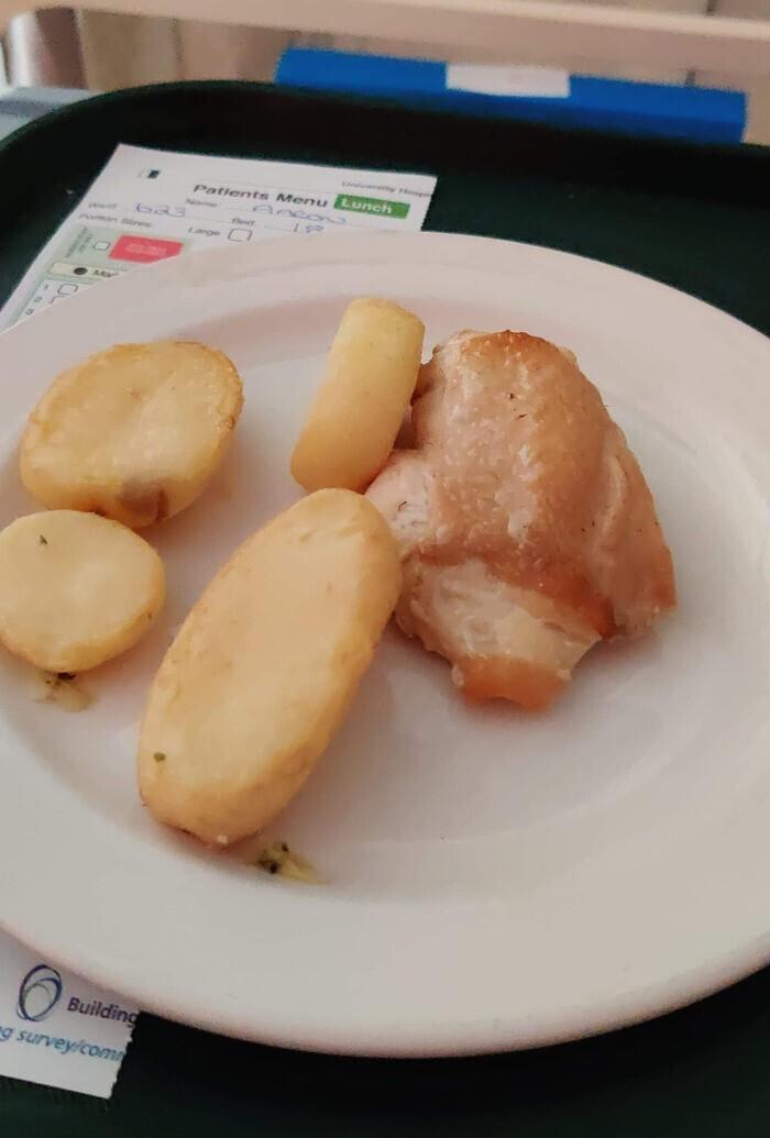 Диетический обед в госпитале