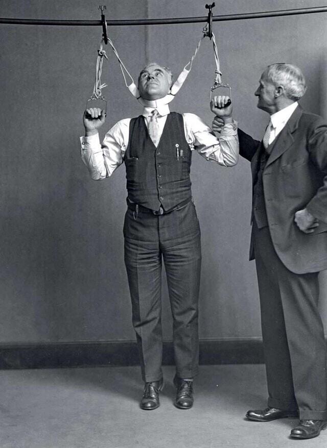 12. Испытания аппарата для увеличения роста, 1931 г.