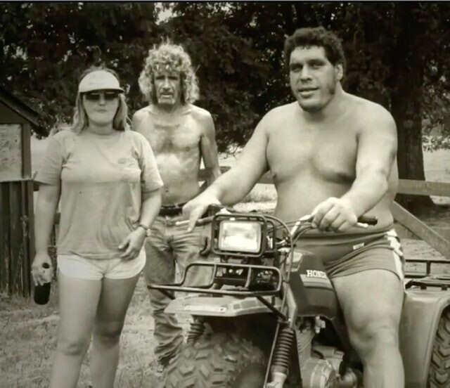 3. Андре Великан с друзьями, 1970-е гг.