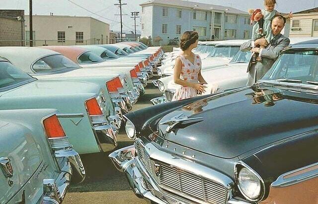 5. Покупки нового автомобиля,  1950 г.