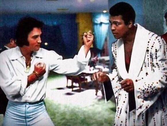 1. Элвис и Мухаммед Али, 1973 г.