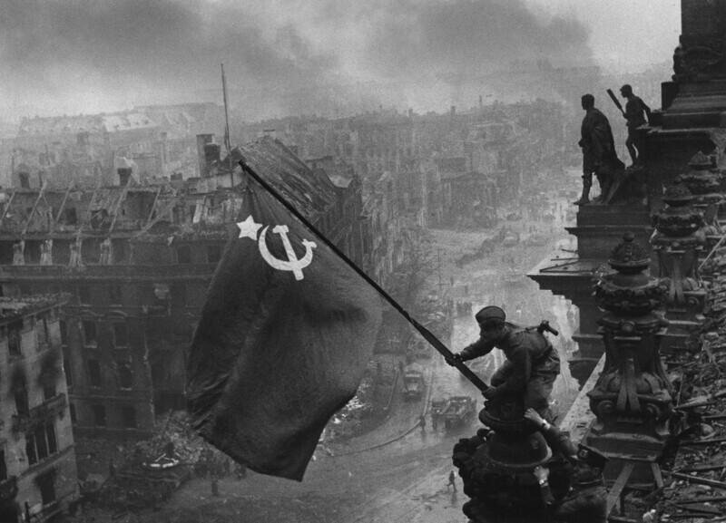 Знамя Победы над рейхстагом, Берлин, май 1945 года