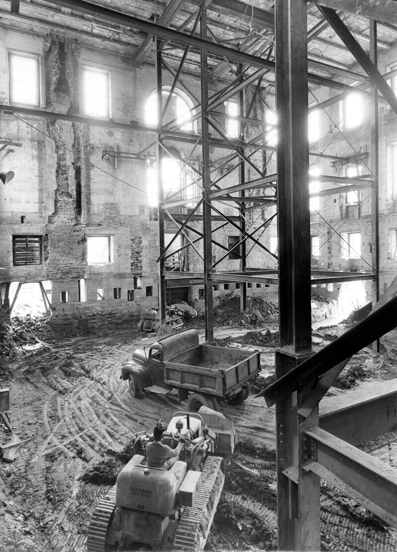 Белый дом во время реконструкции, 1948-52