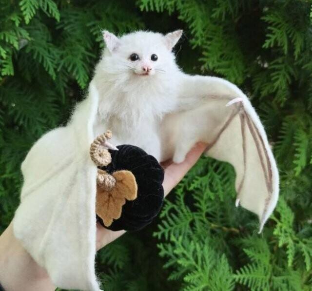 """""""Я сваляла из войлока летучую мышь-альбиноса"""""""