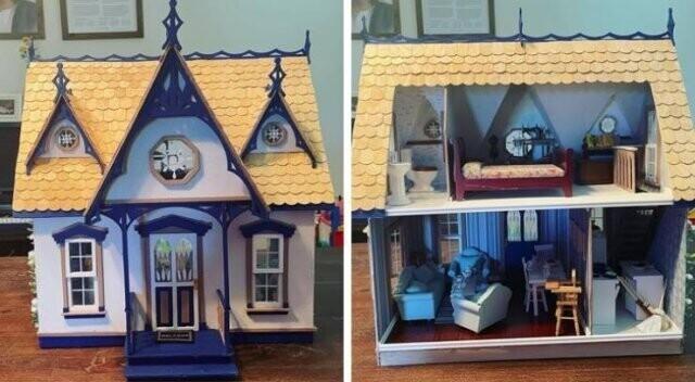 """""""Я впервые в жизни сделала для дочки кукольный домик"""""""