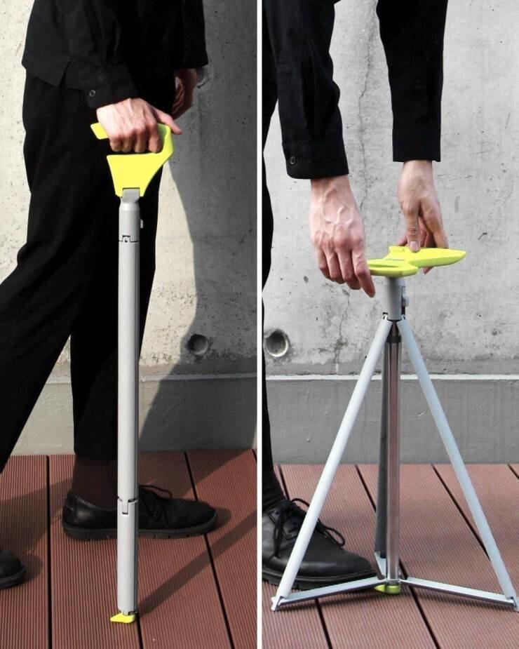4. Трость, которая при необходимости превращается в стул