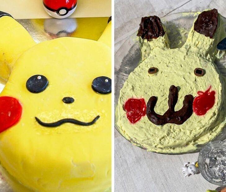 """3. """"Моя племянница хотела торт в виде Пикачу. Ее мама очень постаралась"""""""