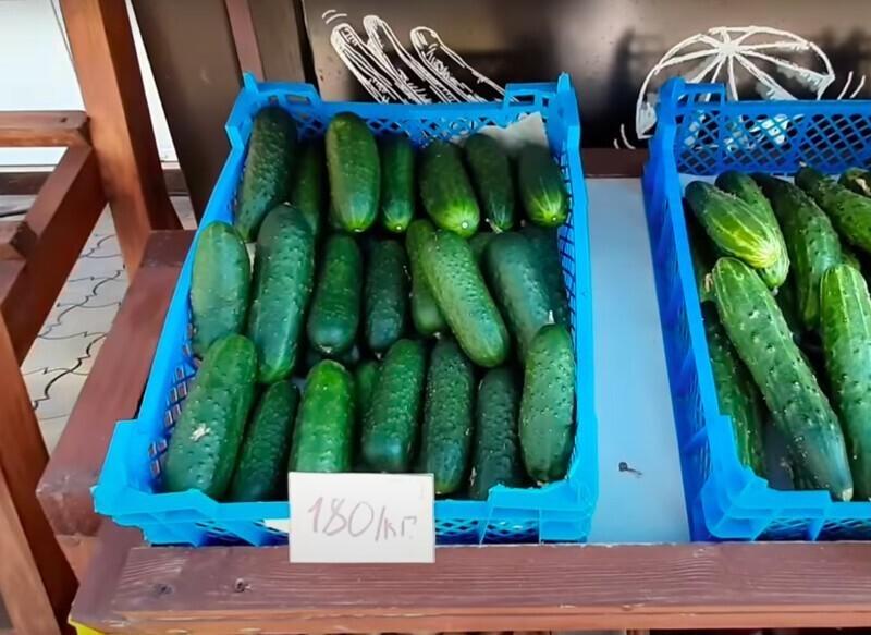 Но на рынках, несмотря на то, что ценник вырос, фрукты и овощи все равно дешевле, чем в Крыму или Сочи