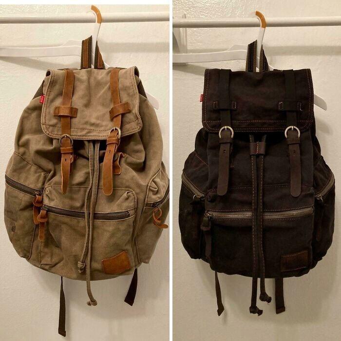 """21. """"Немного дешевой краски, и рюкзак выглядит как новый"""""""