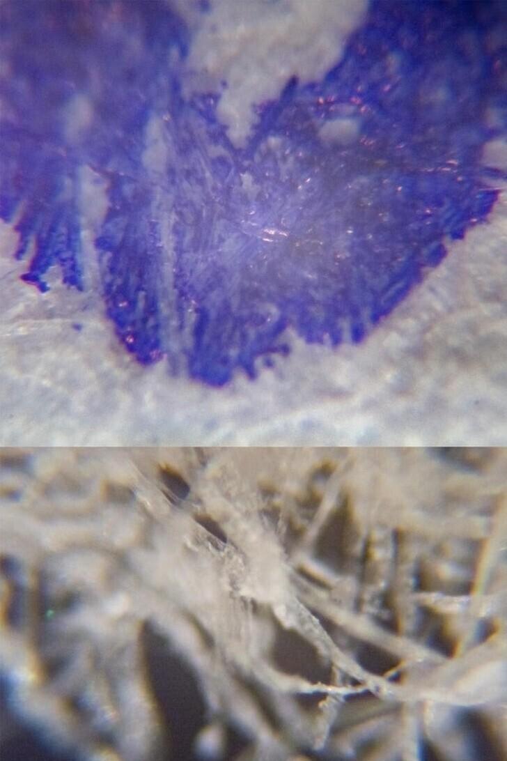 24. Бумага под микроскопом