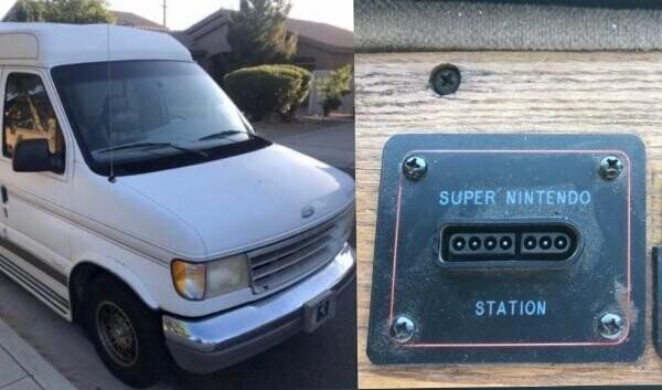"""7. """"Мой новый 96 Camper Van поставляется с розеткой для Super Nintendo"""""""