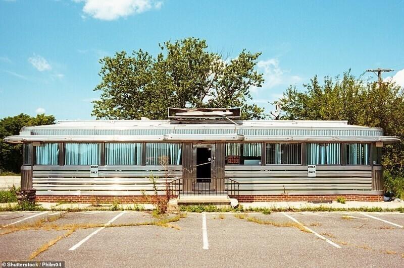 Заброшенная винтажная закусочная в Нью-Джерси, США