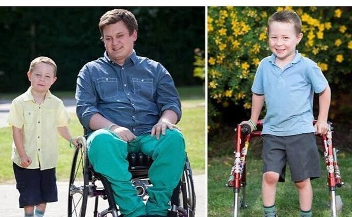 Дэна Блэка парализовало в результате аварии. За 4 года он собрал 22 000 фунтов (2,2 миллиона рублей) на новаторскую операцию, которая помогла бы ему вновь ходить, - и отдал эти деньги на операцию мальчику, у которого было больше шансов пойти
