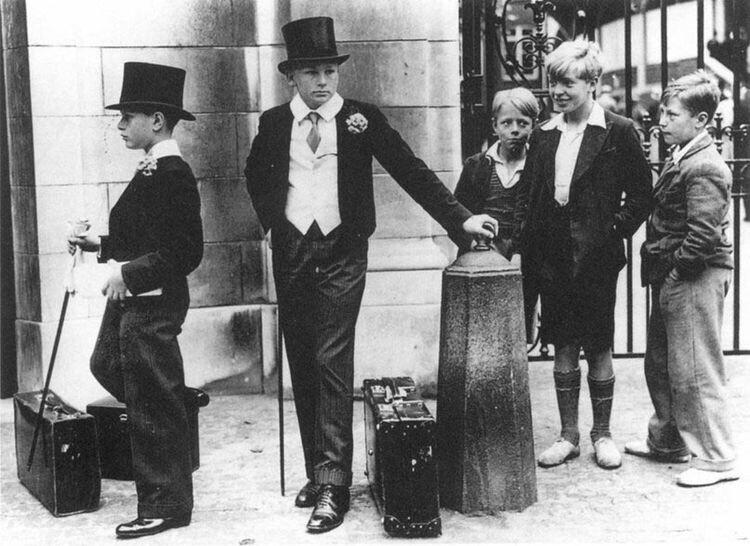 Классовые различия, Великобритания, 1937 год
