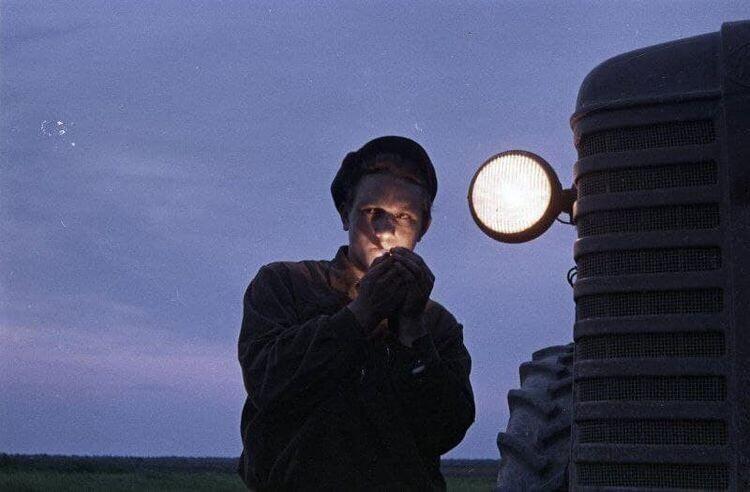 Тракторист на целине, конец 1950-х годов