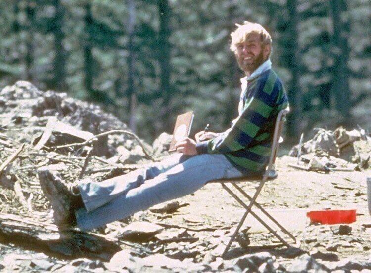 Последний снимок вулканолога Дэвида Джонстона за 13 часов до смерти в результате извержения вулкана Сент-Хеленс, 1980 год