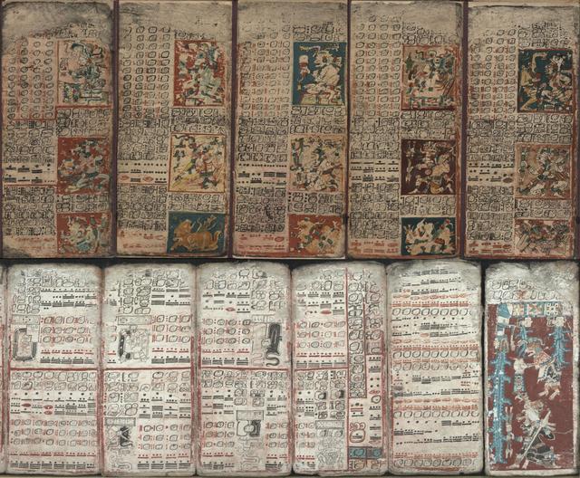 9. Один из четырех кодексов майя, написанный глифами майя в 1200-1250 годах нашей эры
