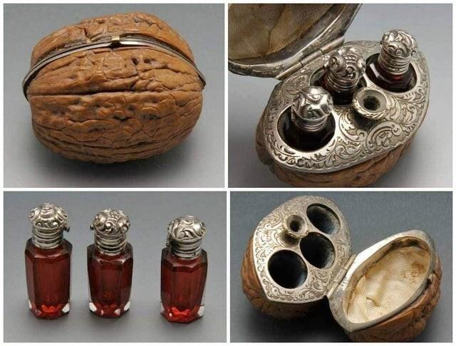 8. Футляр из орехового дерева для духов, XIX век