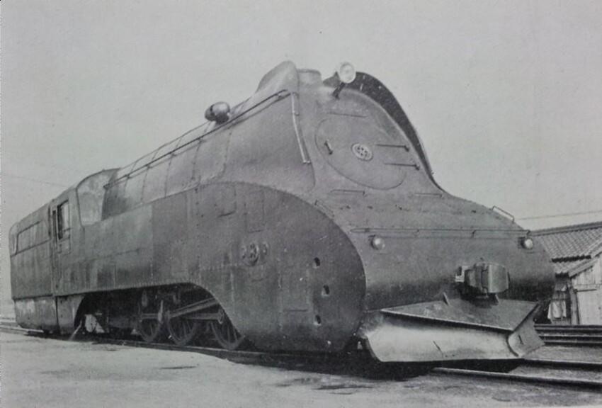 Трехцилиндровый тепловоз типа С53 2С1, Япония, 1934 год