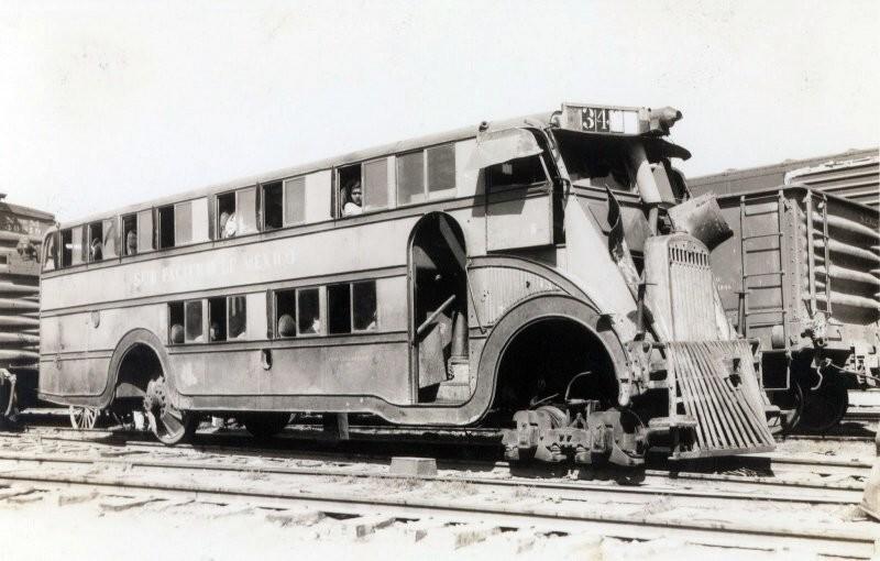 Туристический поезд-автобус, Мексика, 50-е годы