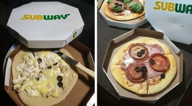 В Бразилии закусочная Subway предлагает не только сэндвичи, но и пиццу