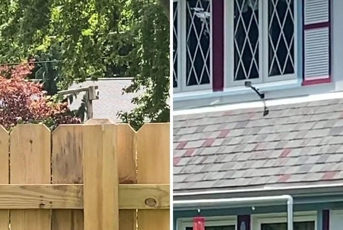 Белье на веревке против соседки с камерой