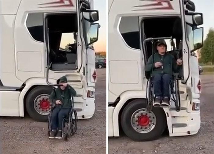 4. Подъемник для водителя грузовика с ограниченными возможностями