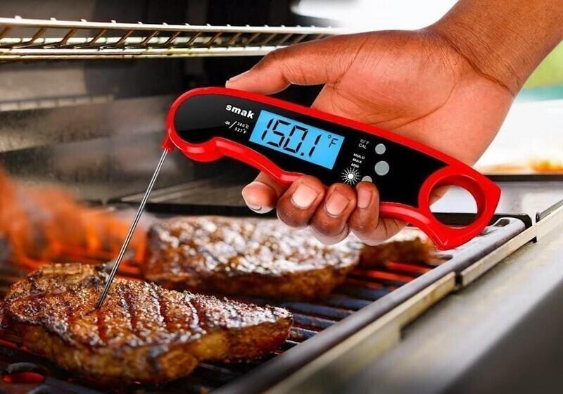 """""""Электронный термометр для мяса - моя лучшая покупка за последние годы. С помощью него можно просто определить, когда мясо пора доставать из духовки или снимать с гриля. Помогает не пересушить мясо, особенно индейку"""""""