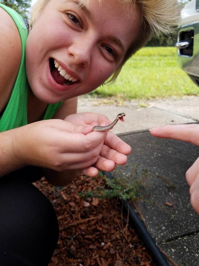 Змейка, которая обожает пальцы