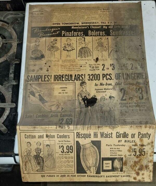 """""""Купили старую плиту  и обнаружили в ней газету 1954 года"""""""