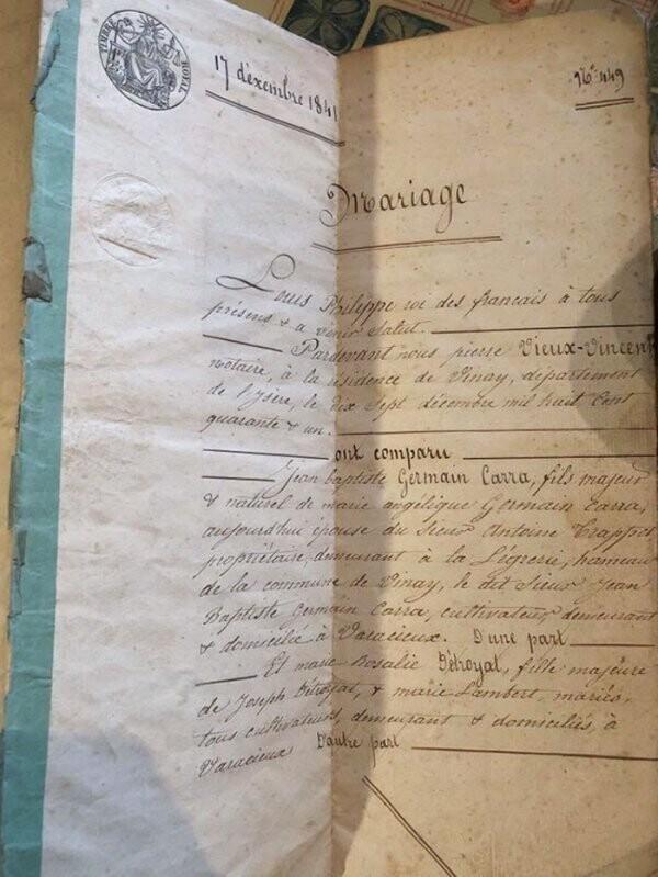 """""""Нашел у себя на чердаке в старом доме свидетельство о браке 1841 года"""""""