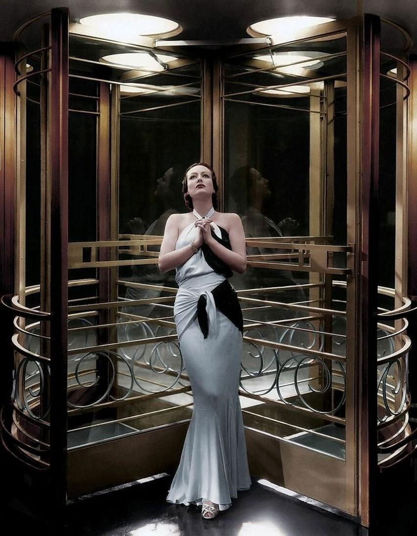 "35. Джоан Кроуфорд на съемках ""Летти Линтон"", 1932 год"