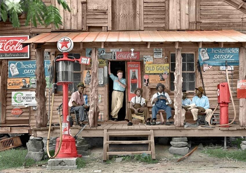 36. Магазин в сельской местности, июль 1939 года. Гордонтон, Северная Каролина