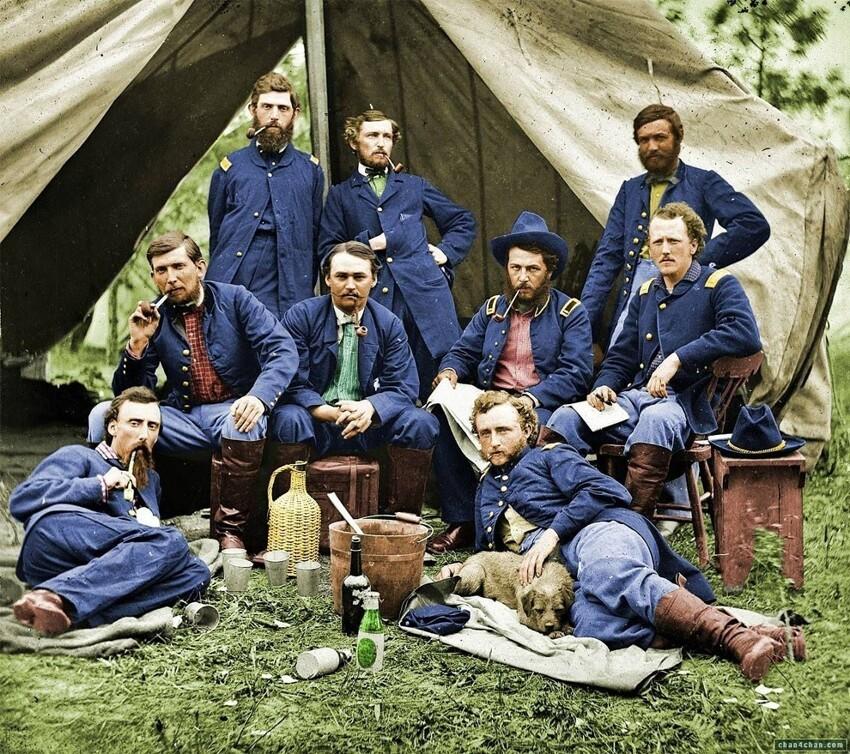 39. Солдаты Союза отдыхают, 1863 год