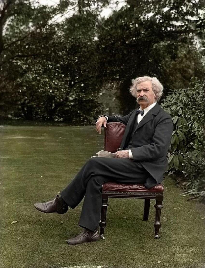 37. Марк Твен, 1900 год