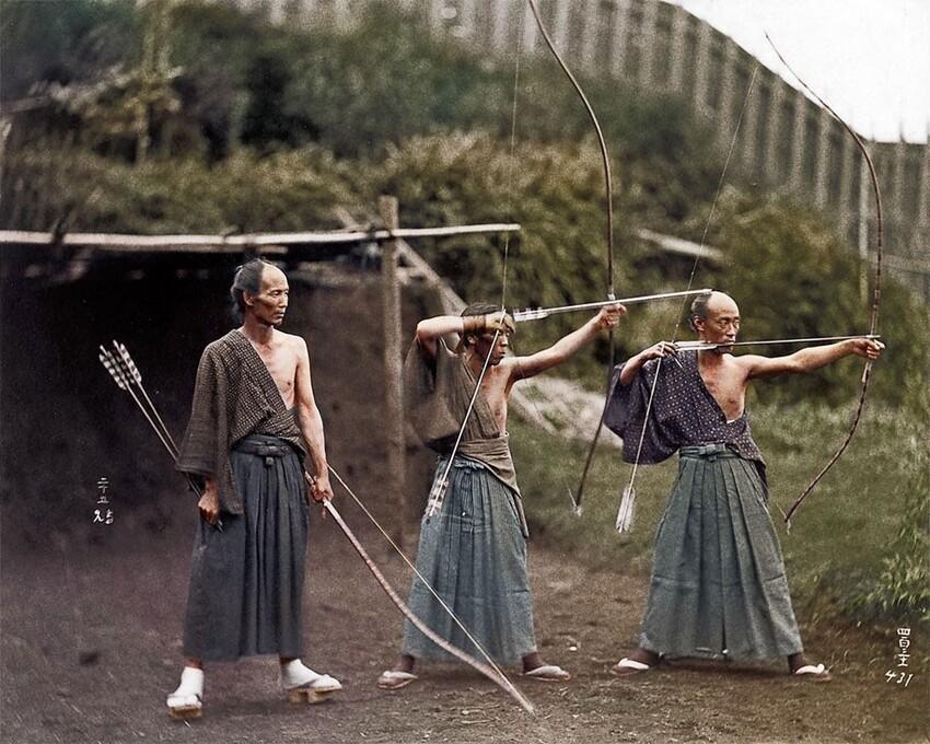 32. Обучение самураев, 1860 год