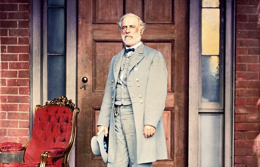 1. Генерал Роберт Э. Ли через неделю после капитуляции перед генералом Улиссом С. Грантом, положившей конец Гражданской войне в США, 16 апреля 1865 года
