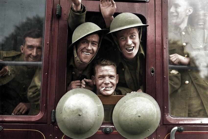 34. Британские солдаты возвращаются с фронта, 1939 год