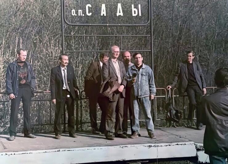 14. Чикатило на следственном эксперименте. 1991 год
