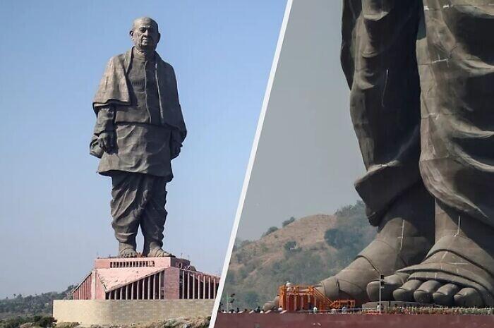 Статуя Единства в честь Валлабхаи Пателя, одного из лидеров движения за независимость Индии