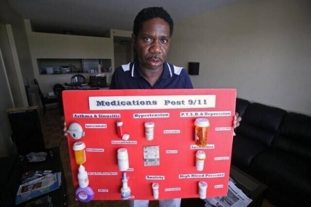 6. Бывший парамедик из Нью-Йорка (заболел после 11 сентября) и список из 15 рецептурных лекарств, которые он принимает каждый день